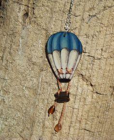 Vintage inspired hot air balloon mixed media by morganannearts, $28.00