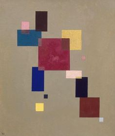 Painter Wassily Kandinsky. Painting. Three rectangles. 1930 year