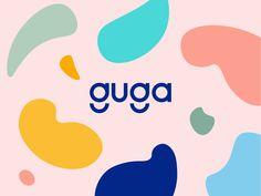 Guga - Artfully playful toys Logotype Wordmark Branding - Guga – Artfully playful toys Logotype Wordmark Branding logotype logodesign illustration shapes id - Kids Graphic Design, Web Design, Best Logo Design, Brand Identity Design, Game Design, Toys Logo, Word Mark Logo, Logo Type, Design Graphique