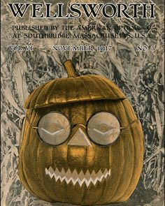 HAPPY HALLOWEEN! Jack-o-lanterns are on the cutting edge, with stylish glasses as seen on an optical journal cover in 1917. Many treats (no tricks!) can be found at www.opticalheritagemuseum.com #OpticalHeritageMuseum #halloween #history