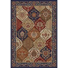 @Overstock - Instantly transform your space with this multi-colored traditional jewel toned area rug. This rug is constructed of machine woven of a soft polypropylene that makes for easy care and long lasting durability.http://www.overstock.com/Home-Garden/Victorian-Panel-Navy-Area-Rug-7-10-x-9-10/6706836/product.html?CID=214117 $166.49