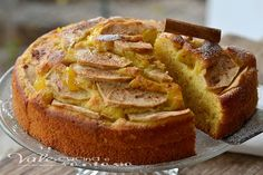 Torta di mele con ricotta e arance senza burro e olio