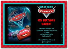 Cars Birthday Invitation | personalized cars invitation | cars birthday party  #disneycarsinvitation #carsinvitation #disneycarsinvitation