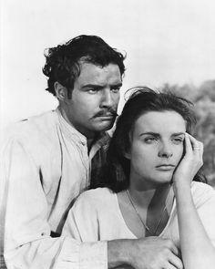 """Marlon Brando with Jean Peters in """"Viva Zapata!"""" (1952)"""