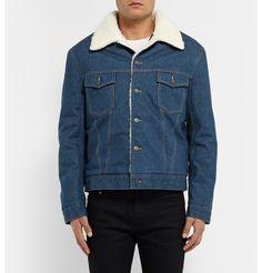 Maison Margiela - Faux Shearling-Trimmed Denim Jacket