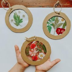 Homemade Cardboard and Nature Ornaments • Little Pine Learners Craft Activities For Kids, Preschool Crafts, Toddler Activities, Projects For Kids, Diy For Kids, Nature Activities, Diy Christmas Ornaments, Ornaments Ideas, Christmas Crafts For Kids
