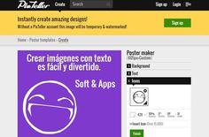 PixTeller es una genial utilidad web gratuita para crear todo tipo de imágenes con nuestros textos: banners, posters, sociales, covers, etc.