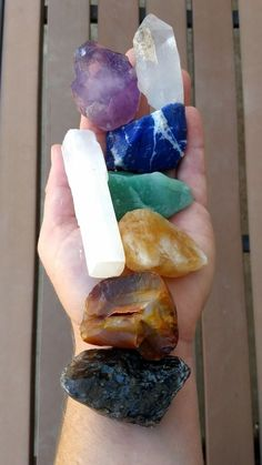 Wholesale bulk lot of 7 large natural raw rough crystals and 1 selenite stick, wand, or blade Each lot is 1/2 to 1 pound total, consisting of 8 large ... #crystals #selenite #stick #rough #stones #large #chakra #gemfarmer