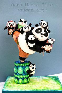 Kung fu Panda 3 New Pandas Wallpapers) Kung Fu Panda Cake, Panda Cakes, Gravity Defying Cake, Gravity Cake, Maleficent Cake, Bolo Panda, Teddy Bear Cakes, Panda Party, Cake Wrecks