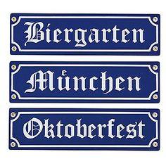 "Holzschilder ""Oktoberfest"" 40 cm lang More"