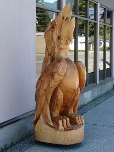 Hope British Columbia: Raven Carving by Karen Morton's Pics, via Flickr. www.HopeBC.ca Chainsaw Carvings, Wood Carvings, Carved Wood, Hand Carved, Wood Sculpture, Sculptures, Chain Saw Art, Bamboo Basket, Wood Tree