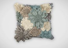 Wildflower Pillow ,  , large_gray