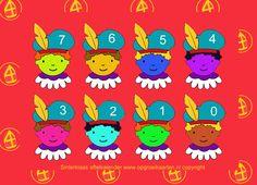 Aftelkalender sinterklaas gekleurde pietjes