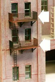 HO Scale Building Side Detail FIRE ESCAPES, 20 story SPECIAL Pack