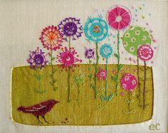 Liz-Cooksey textiles- Flowerona
