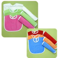 Terry Cloth Baby Bibs Or Burp Cloths