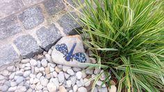 Gartendekoration Stein  Libelle blau Mosaik von Meine kleine kunterbunte Welt Mosaikdesign, Wohndeko, Kinderbilder auf DaWanda.com