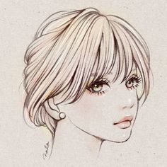 Mmmm me encanta este dibujo creo que es el mejor que he ello Girl Face Drawing, Anime Drawings Sketches, Fashion Illustration Sketches, Portrait Sketches, Cool Art Drawings, Beautiful Drawings, Portrait Au Crayon, Portrait Art, Portraits