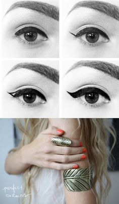 How to properly do a thick winged eyeliner look