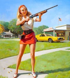 Illustration by Gil Elvgren (1974)