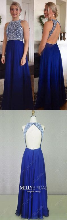 Long Prom Dresses Royal Blue,Modest Formal Evening Dresses A-line,Chiffon Military Ball Dresses with Beading,Sparkly Pageant Party Dresses Open Back Affordable Formal Dresses, Plus Size Formal Dresses, Formal Dresses For Teens, Cheap Prom Dresses, Party Dresses, Pastel Prom Dress, Royal Blue Prom Dresses, Simple Prom Dress, Beaded Prom Dress