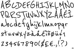Reenie Geanie font designed by Typeco, available on Google Web Fonts.