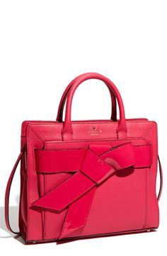 """Kate Spade New York """"Bow Valley - Rosa"""" Satchel. Kate never ceases to amaze me."""
