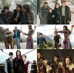 Behind the scenes next to their scene in the film. :) <--- well, the VDT one is not the same scene, but this is still cool.