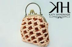 """Pochette """"Fior di Panna"""" crochet bag with frame by Katy Handmade"""