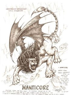 griffin, a mythological beast with an half lion and half eagle appearance. ..how's my version of griffin?