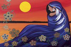 Evening Sun Woman by Betty Albert (Wabimeguil) Native American Paintings, Native American Wisdom, Native American Indians, Native Americans, Deviant Art, Dark Drawings, Spirited Art, American Indian Art, American Women