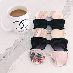 fb0f435cab9 Rose gold lined sunglasses or sliver Rose gold lined sunglasses or all  sliver ( large frame ) Accessories Sunglasses