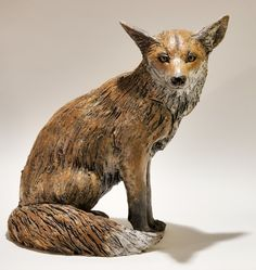 Ceramic Animal Sculptures | Fox Sculpture by Nick Mackman