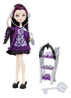 Amazon.com: #EverAfterHigh Getting Fairest Raven Queen Doll: Toys & Games