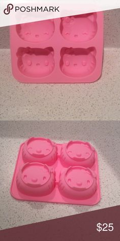 Hello Kitty Cookie Molds Tray Perfect to make bath bombs, ice cubes, cookies! Hello Kitty Other
