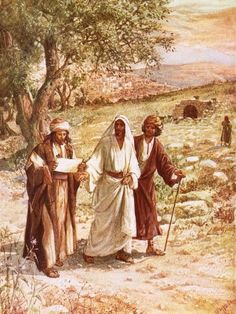 size: Giclee Print: Jesus Appearing to Two Disciples on the Road to Emmaus by William Brassey Hole : Entertainment Road To Emmaus, Good Night Prayer, Montessori Art, Biblical Art, Bible Stories, Bible Art, Framed Artwork, Framed Wall, Figurative Art