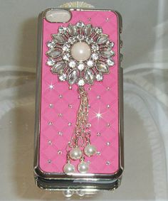 PINK BEDAZZLED CASE Fits a I phone case 5 Hard by TheCatsMeowCoats, $20.00