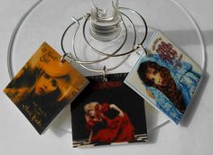 12 Stevie Nicks Album Cover Wine Charms for the Music/Wine Lover GREAT jewelry for your wine glasses Fast Shipping Cool Best Friend Gift by FortySevenGems on Etsy