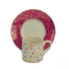 Turkish Coffee Cup by Kutahya Porcelain - Fuchsia