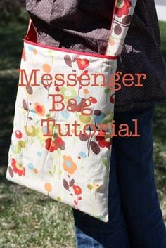 Yes. Full tutorial on making this messenger bag and measurements to make a smaller, kid-sized bag. Some very clever ideas here. Must make for laptop.