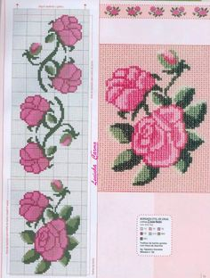 This Pin was discovered by sıd Cross Stitch Bookmarks, Cross Stitch Rose, Beaded Cross Stitch, Cross Stitch Borders, Cross Stitch Flowers, Cross Stitch Designs, Cross Stitching, Cross Stitch Patterns, Peyote Patterns
