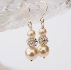 Ella Ivory Pearl Bridal Earrings