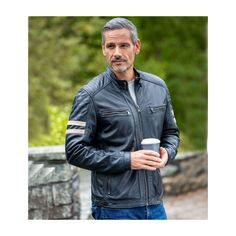 Lambskin Leather Jacket, Leather Men, Real Leather, Leather Jackets, Travel Outfit Summer, Mature Men, Biker Style, Padded Jacket, Clubwear