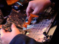 Installing a new motherboard, Seattle, Washington, USA