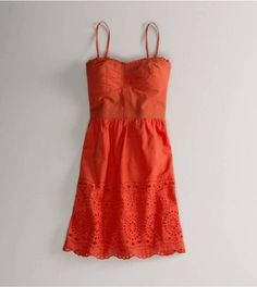 AE Eyelet Trim Corset Dress