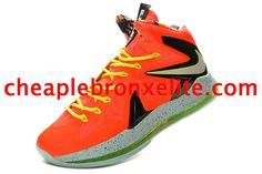 Nike Lebron X PS Elite Series Total Crimson Orange Fiberglass Black 579827 800