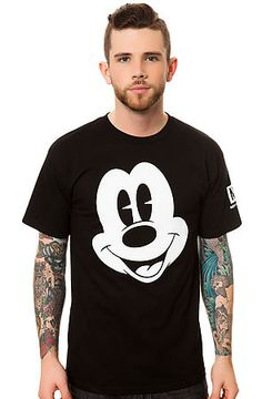 The Mickey Face Tee in Black by NEFF