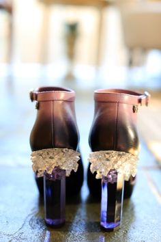 Chanel Crystal Heel Booties