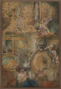 Gabriel de Saint-Aubin (French, 1724–1780). Allegory of Louis XV as Patron of the Arts with Paintings and Sculpture from the Salon of 1769, ca. 1769. The Metropolitan Museum of Art, New York. Gift of Mrs. Charles Wrightsman, 2009 (2009.396)