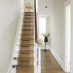 Stripped paint stair runner